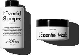 L'Essentiel Shampoo y L'Essentiel Mask